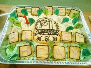 ノーサイド俊徳一周年記念ケーキ