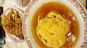 天津飯と餃子!